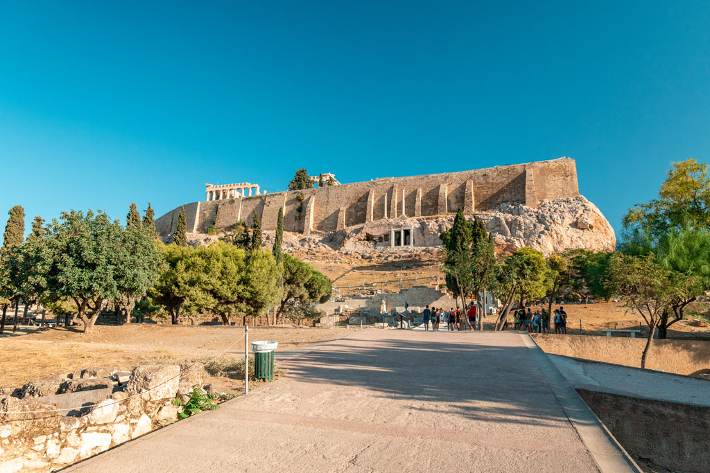 Acropolis from Entrance