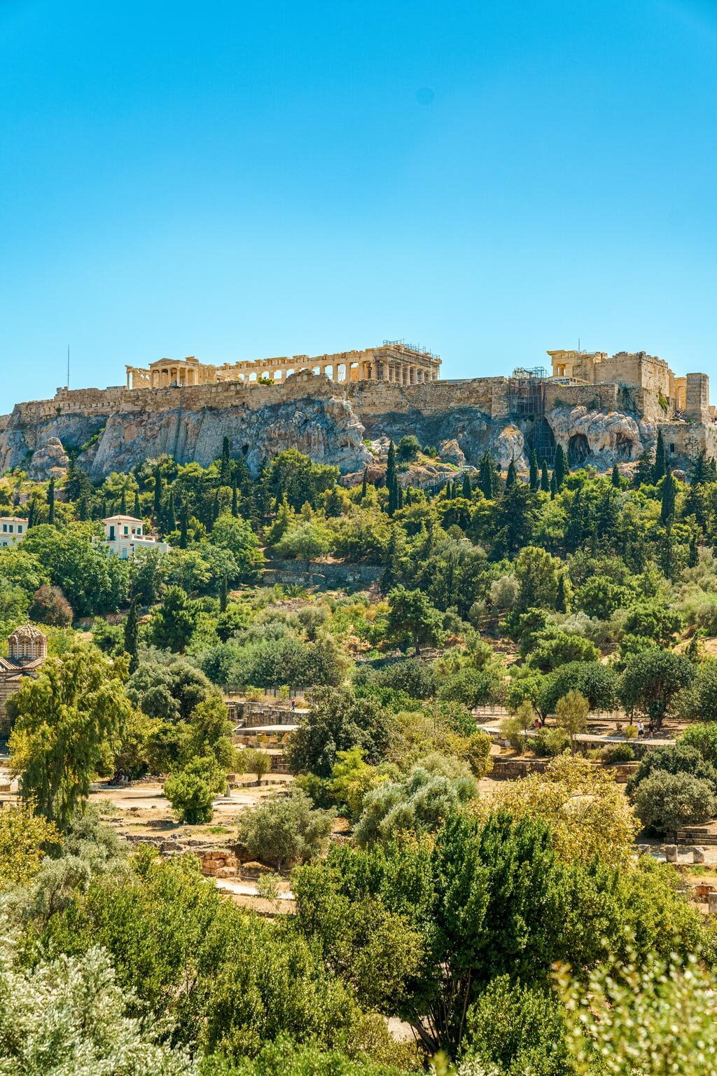 Acropolis of Athens Seen from Temple of Hephaestus
