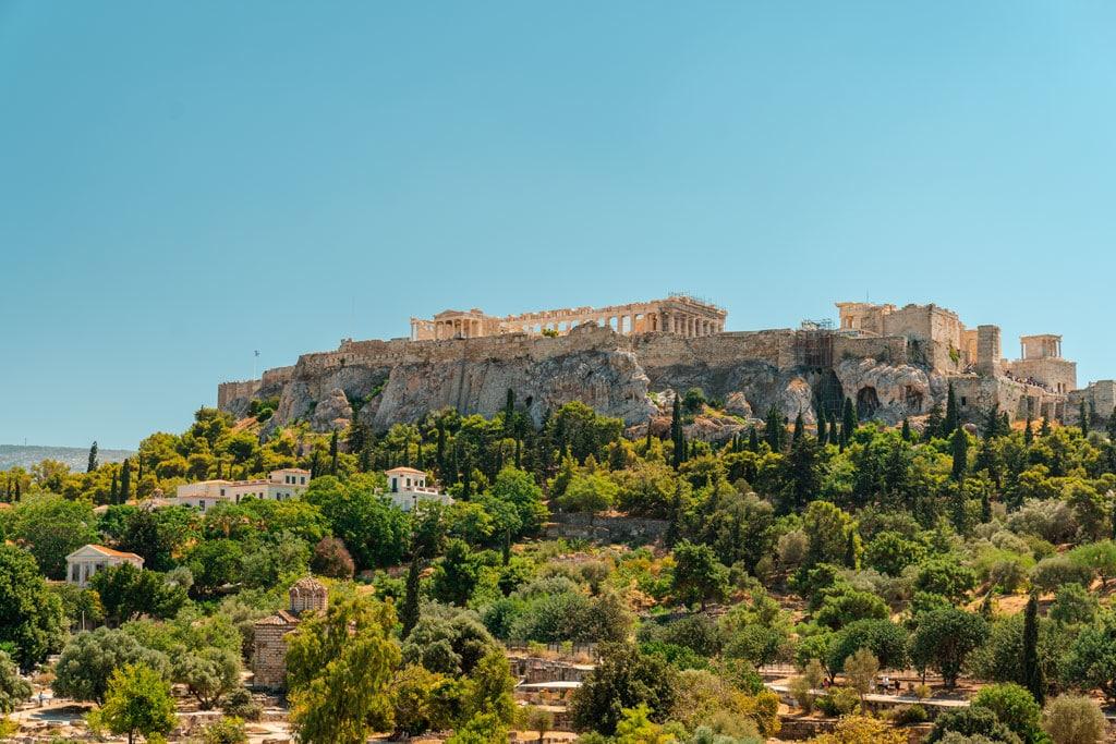 Amazing View to Acropolis of Athens