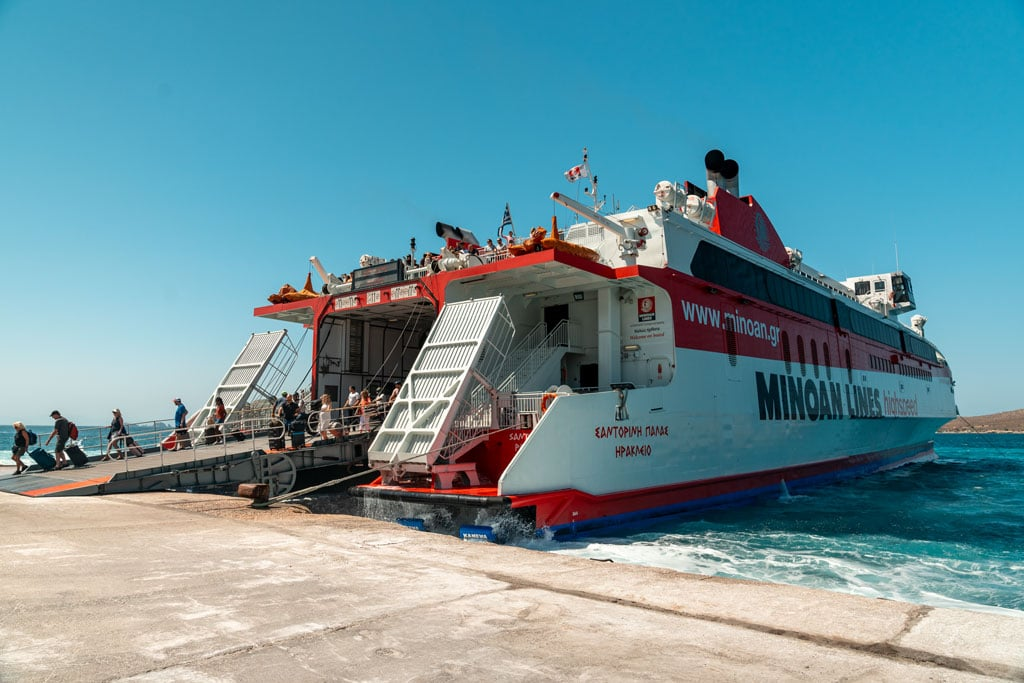Greece Passenger Ferry in the Port