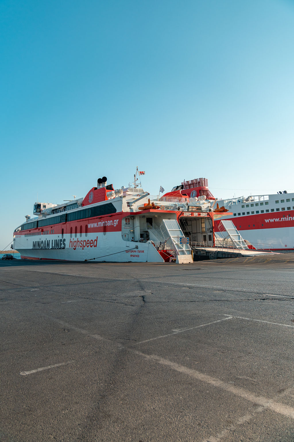 Ferry at Port of Athens