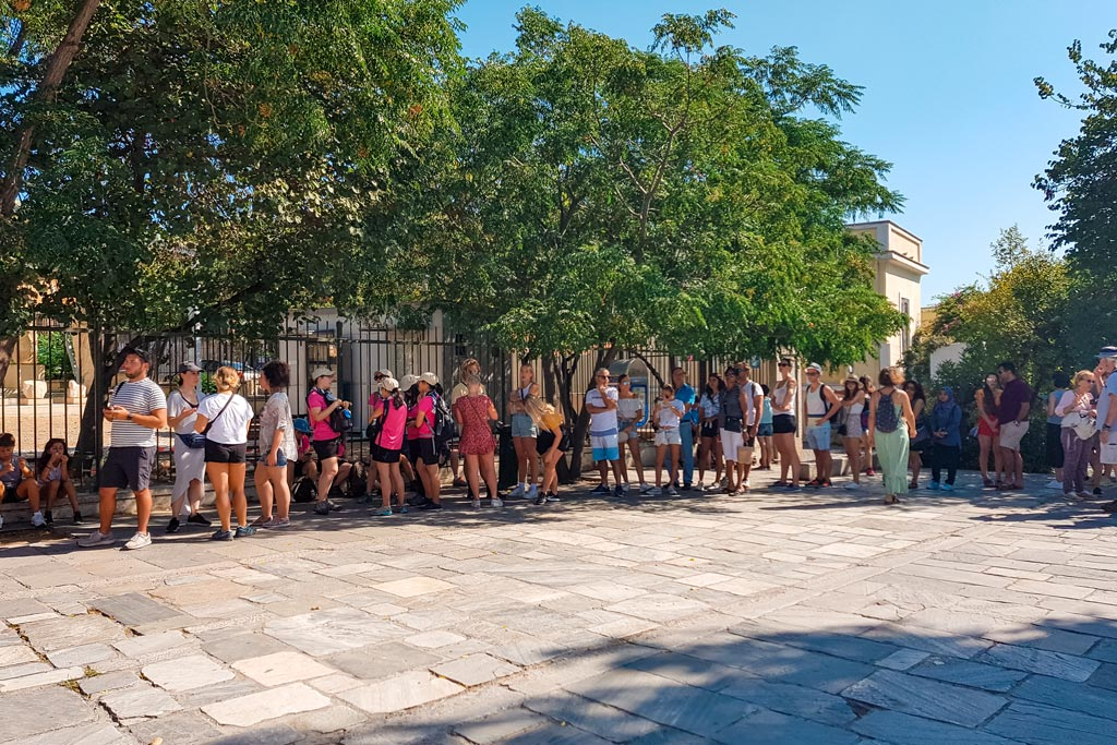 Queue to Acropolis of Athens