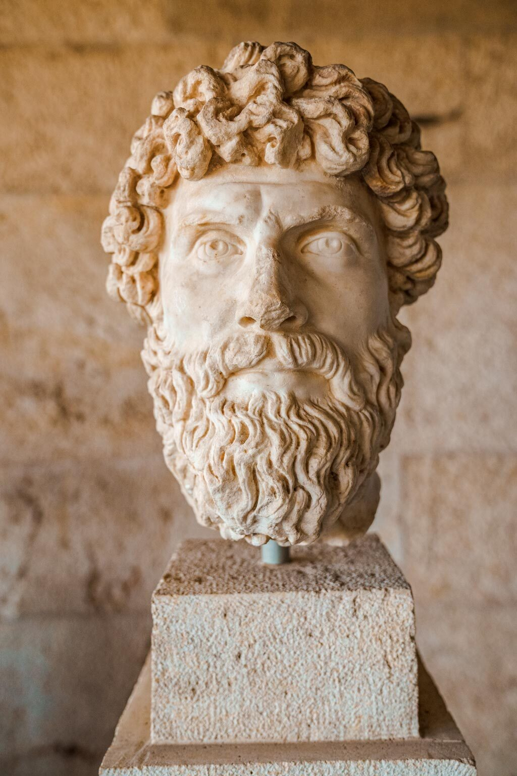 Statue Head Inside Stoa of Attalos Museum