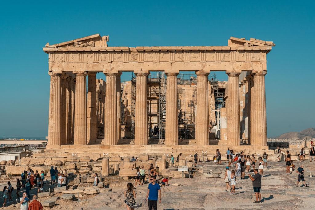 Tourists Near Parthenon