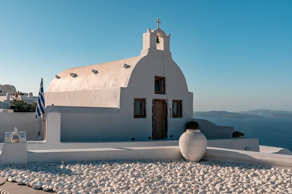 White Chapel in Oia Santorini