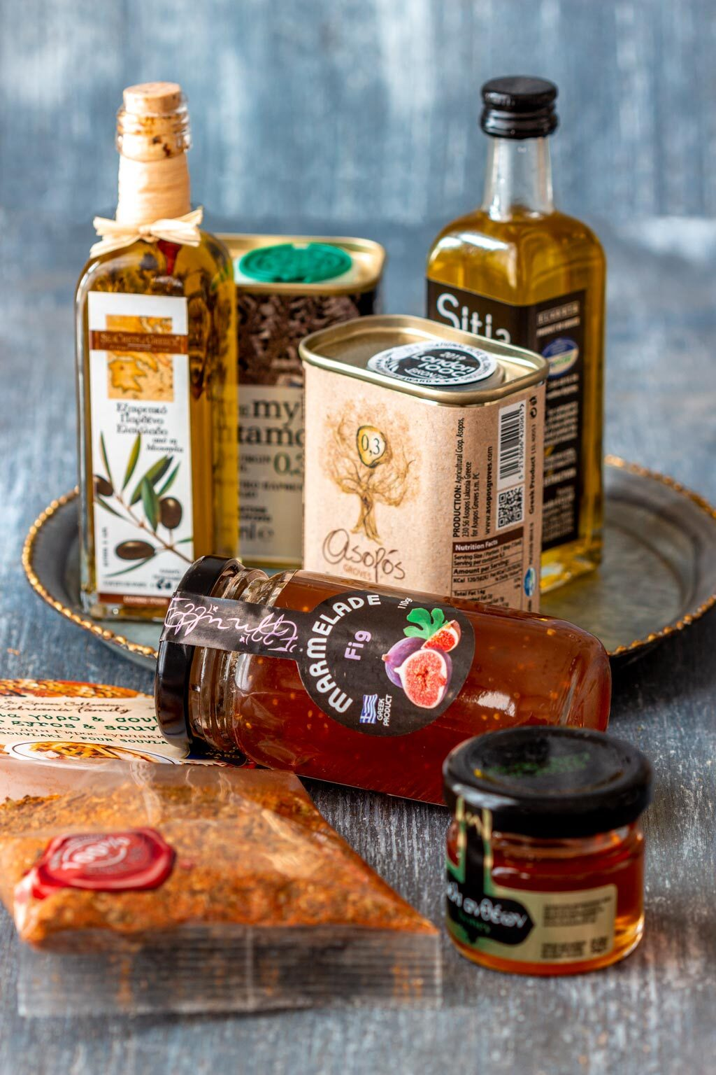 Selection of Edible Greek Souvenirs for Foodies