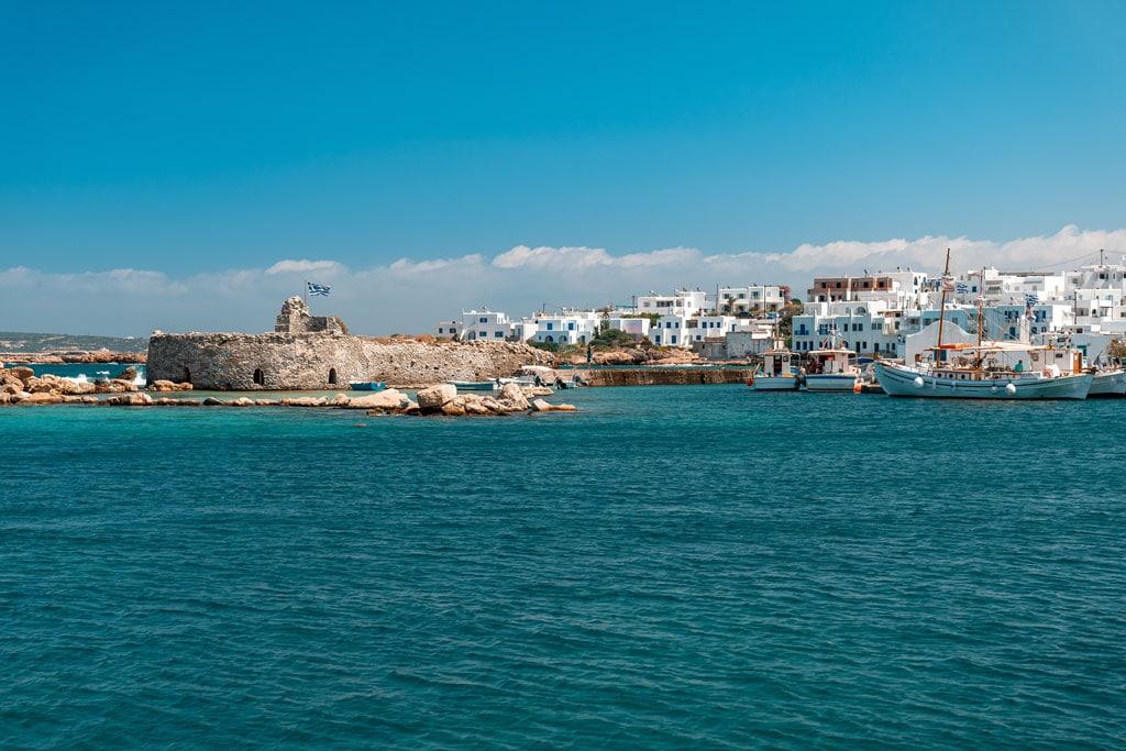 Venetian Castle Port of Naoussa Paros