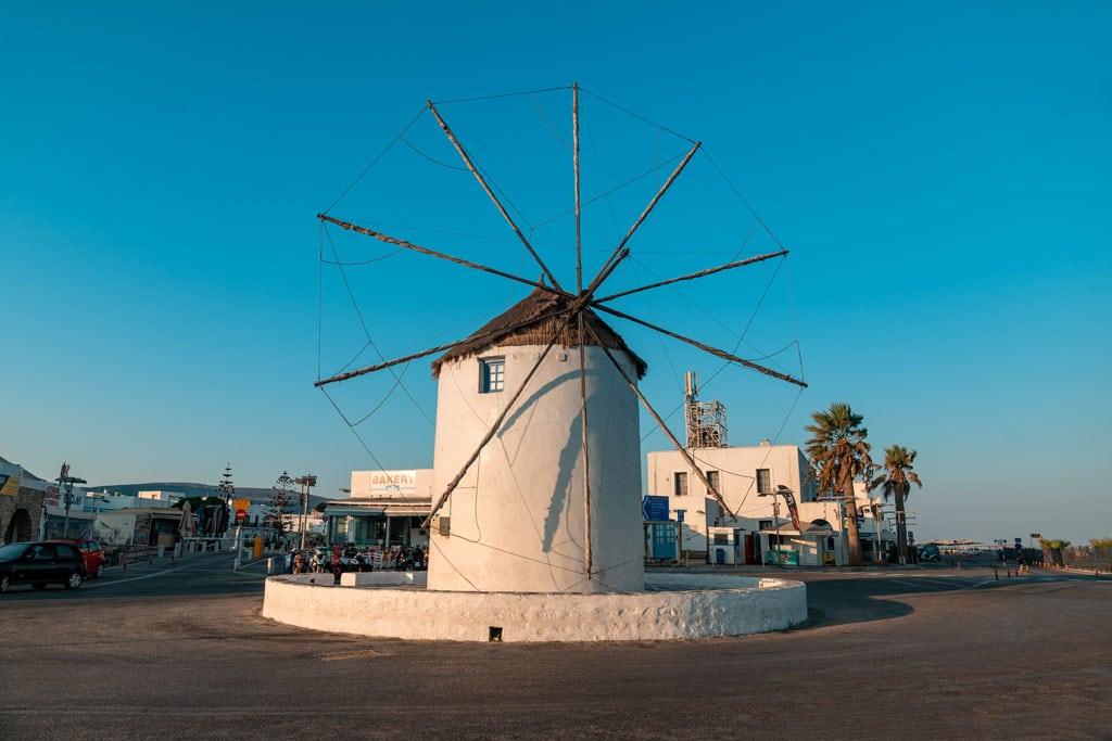Windmill Parika Paros Greece
