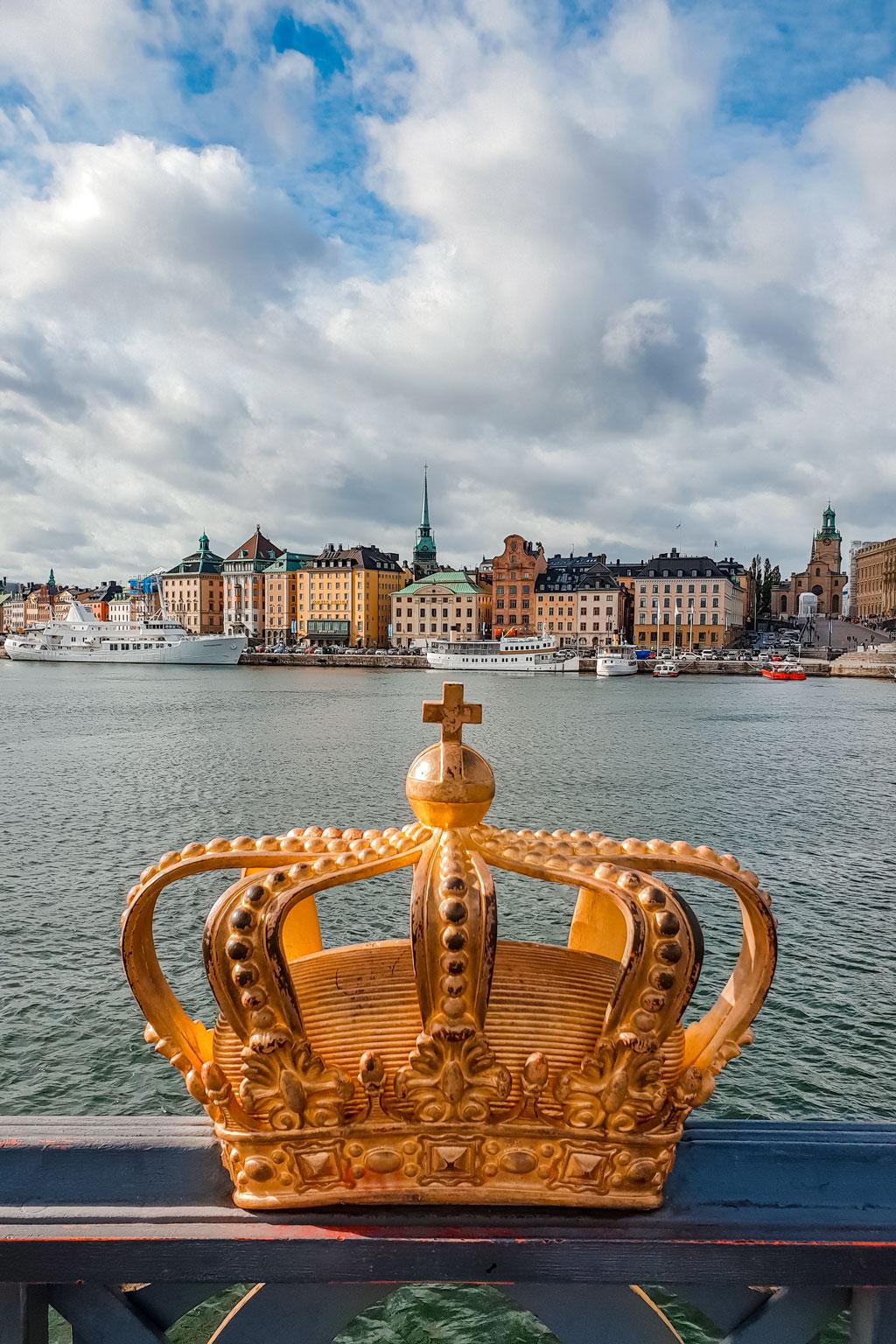 Golden Crown on the Skeppsholmen Bridge