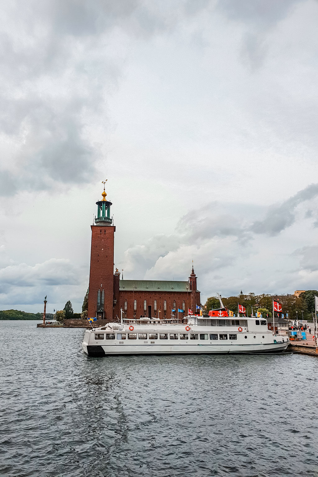 Klara Malarstrand Ferry Port and Stockholm City Hall