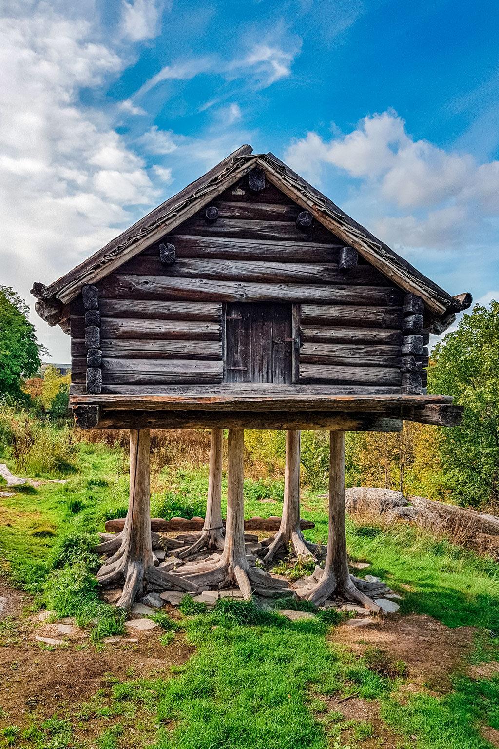 Sami Wooden Hut on Legs Skansen