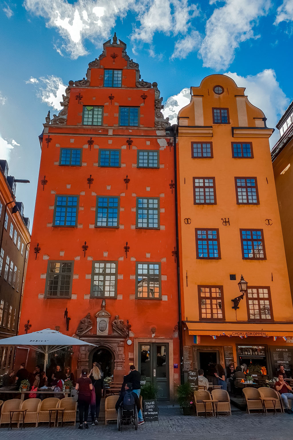 Colorful Houses in Stockholm Old Town