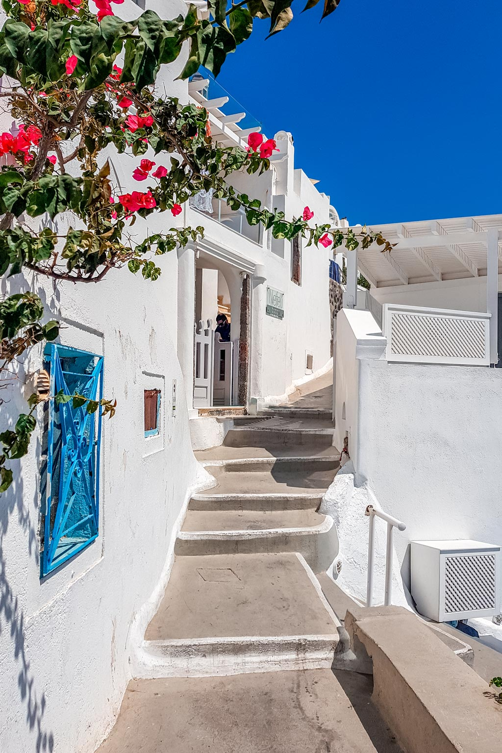 Narrow Streets at Santorini, Greece