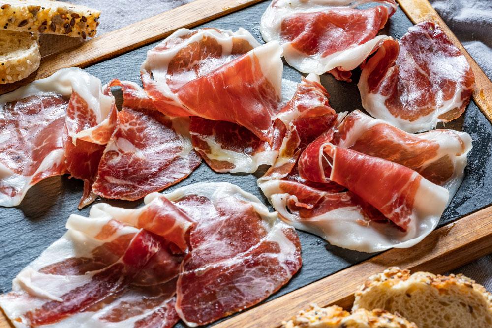 Sliced jamon de Iberico