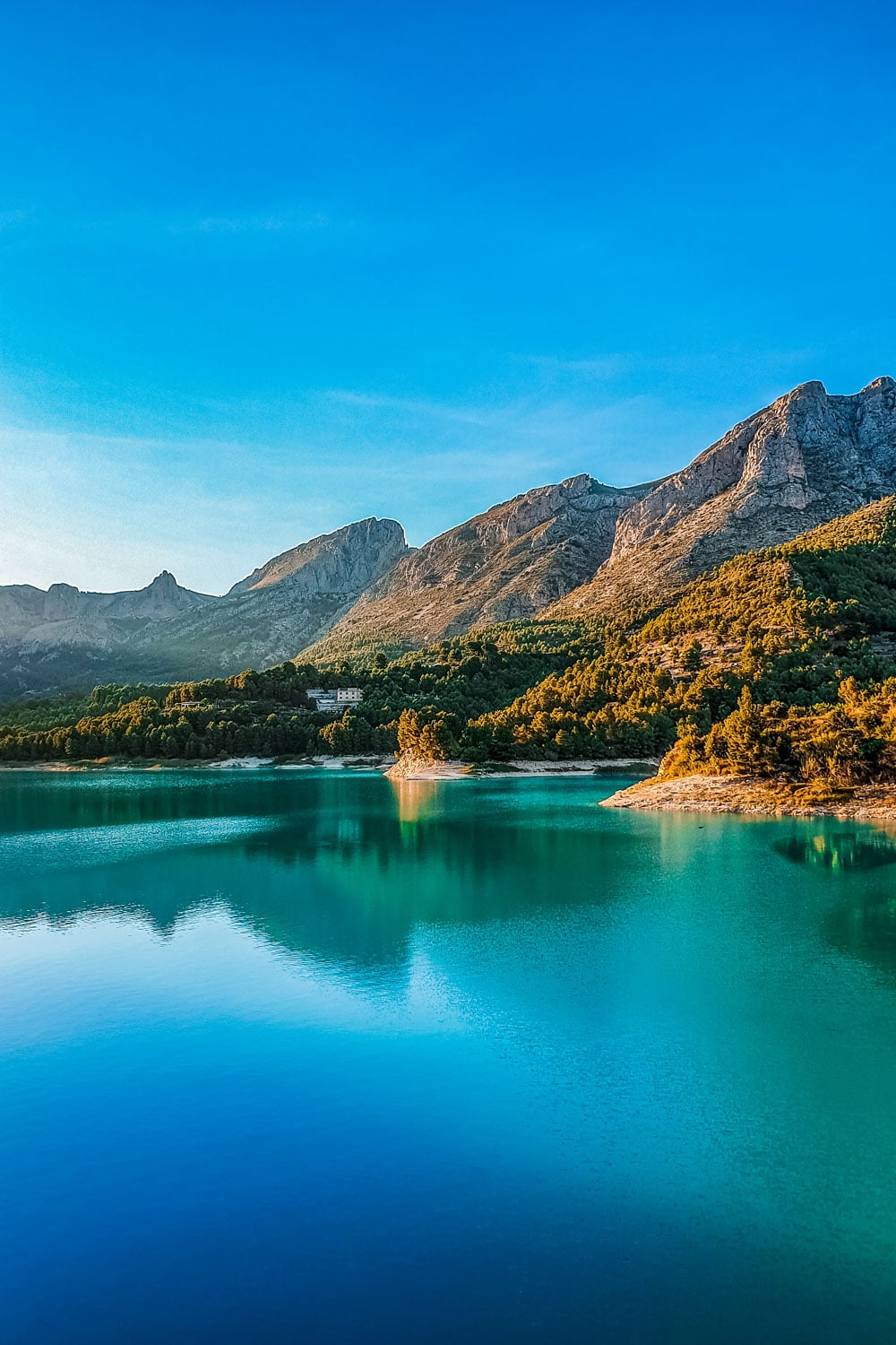 Guadalest Reservoir and mountains perfect place for walking