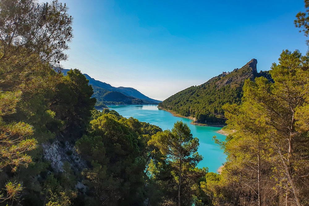 Amazing view to Guadalest reservoir and dam