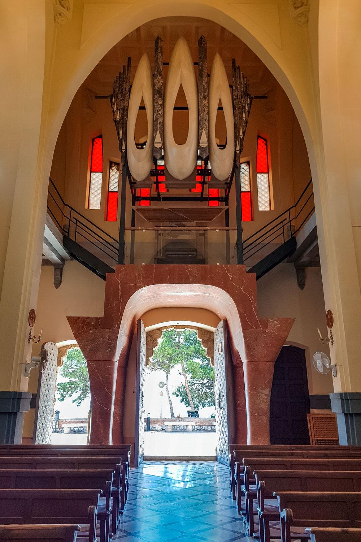 Marble organ inside sanctuary