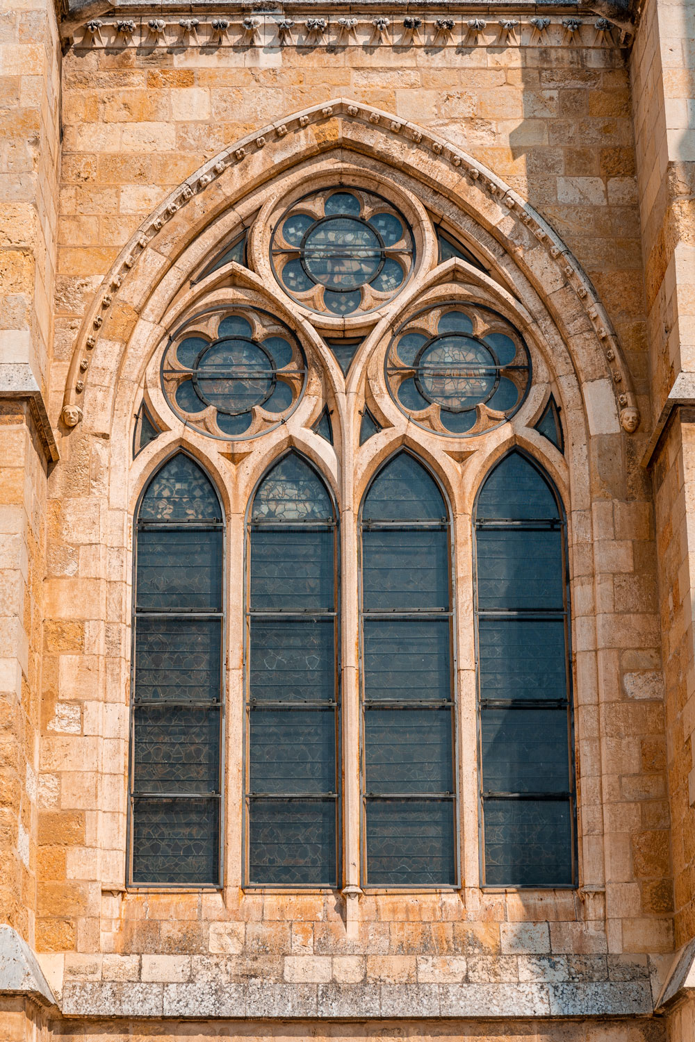 Cathedral windows in the Gothic style