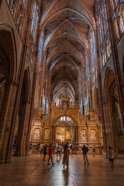 Interior of Santa Maria de Leon Cathedral