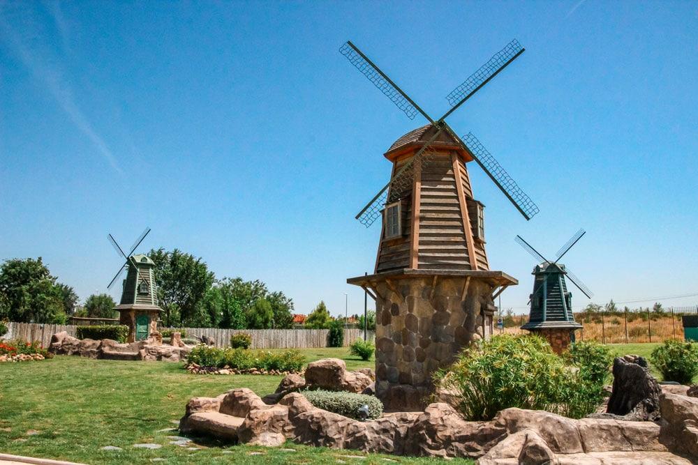 Dutch windmills at Europa Park, Torrejon de Ardoz