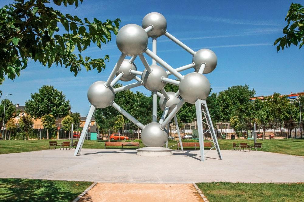 Atomium of Belgium in the Europe Park of Torrejon de Ardoz