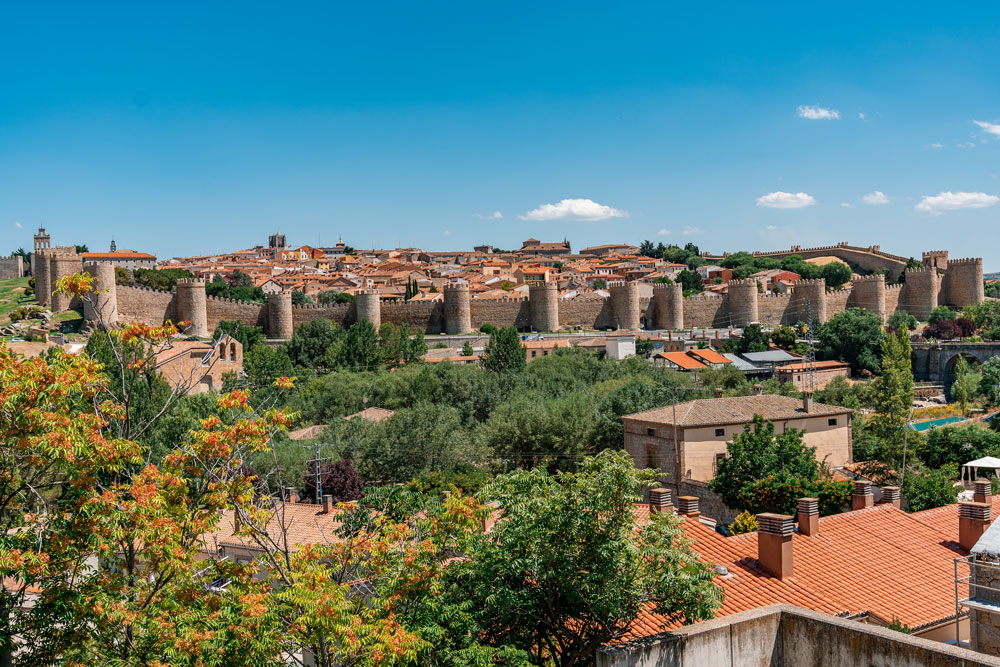 View to the wall of Avila