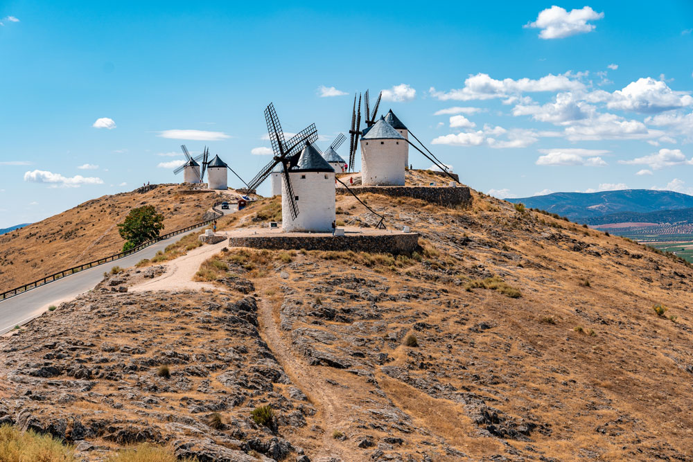 Consuegra windmills on the hill