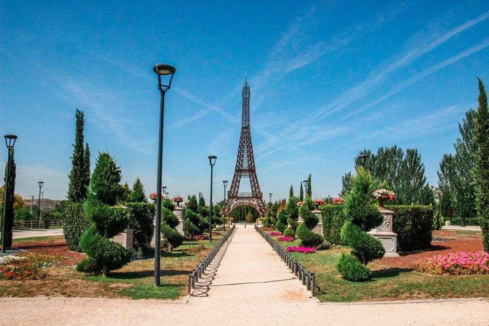 Eiffel Tower in Europa Park near Madrid