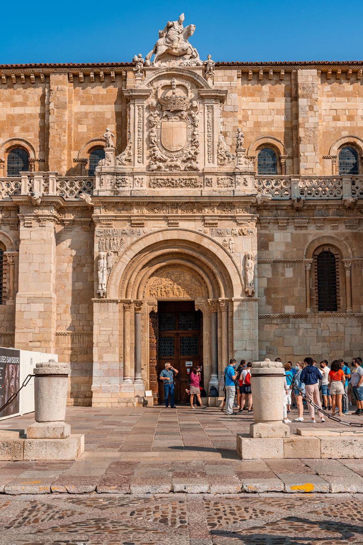Entrance of the Basilica de San Isidoro in Leon