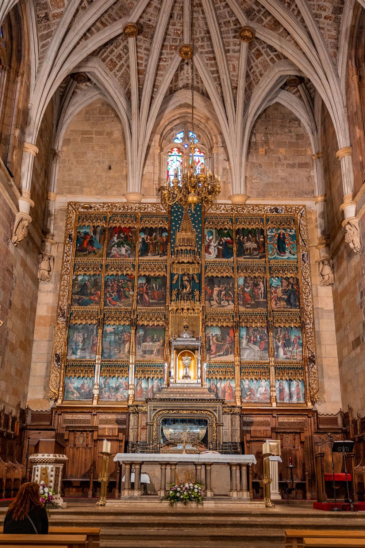 Interior of the Basilica de San Isidoro in Leon