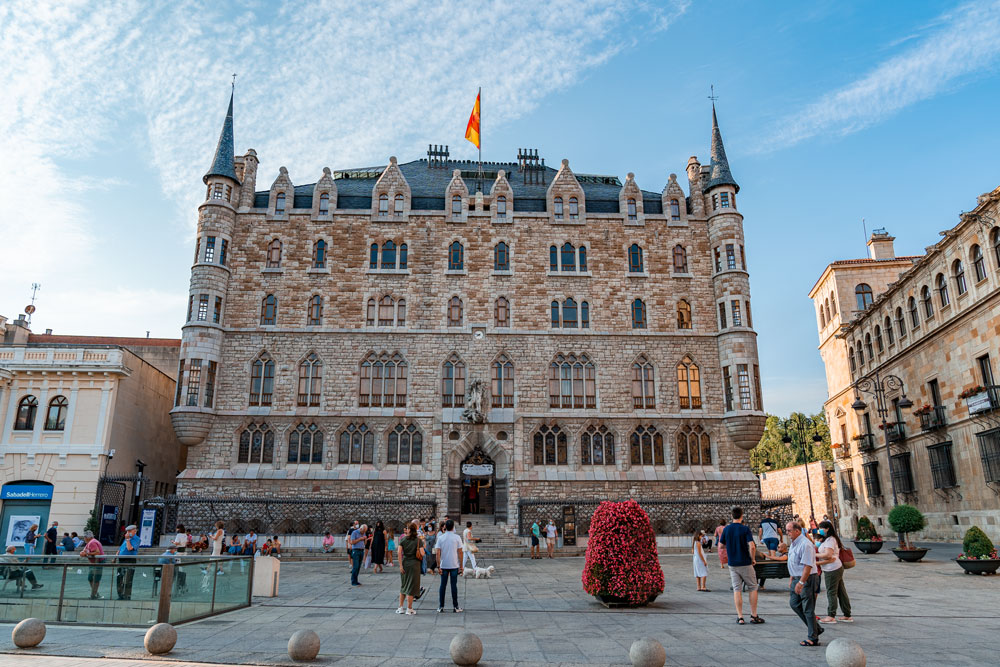 Casa Botines building designed by Antoni Gaudi