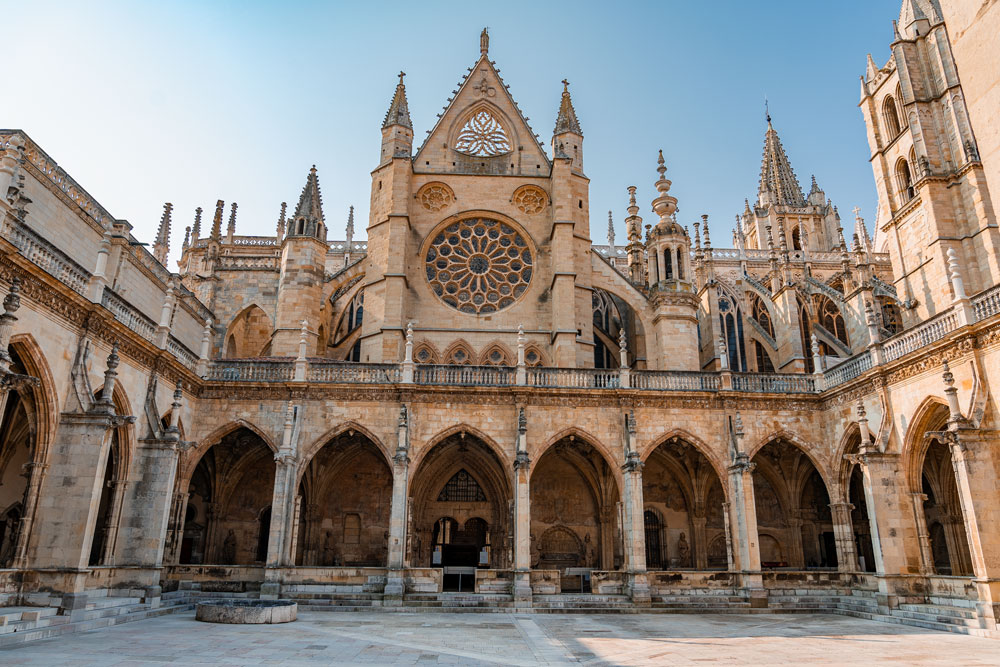 Cathedral of Leon couryard