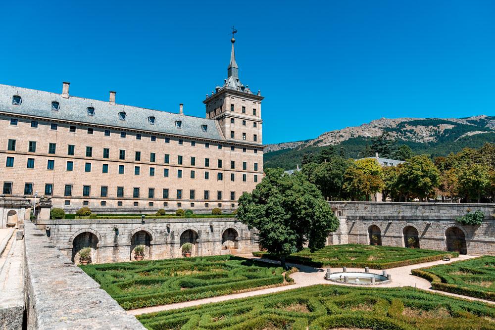 Formal garden at El Escorial