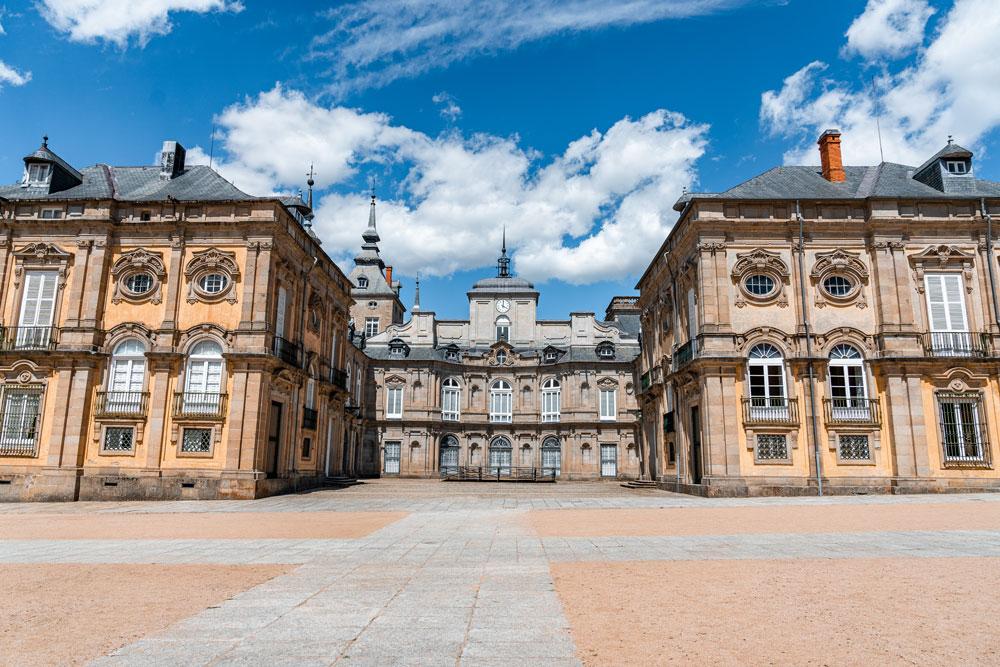La Granja Royal Palace courtyard