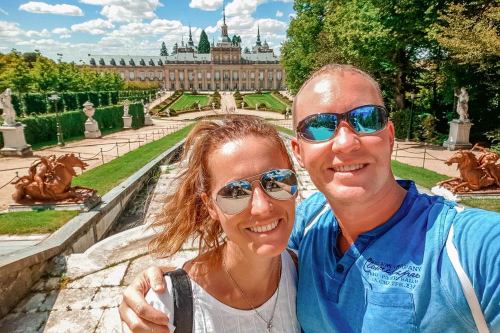 Julia and Siim at the La Granja Royal Palace