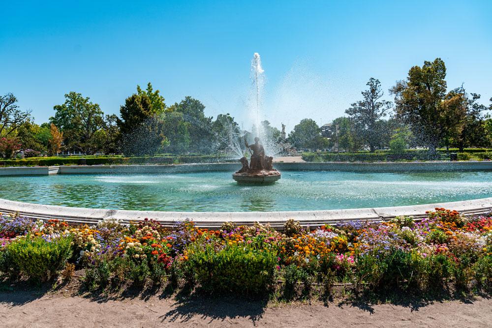 Beautiful fountain in the Royal Palace garden
