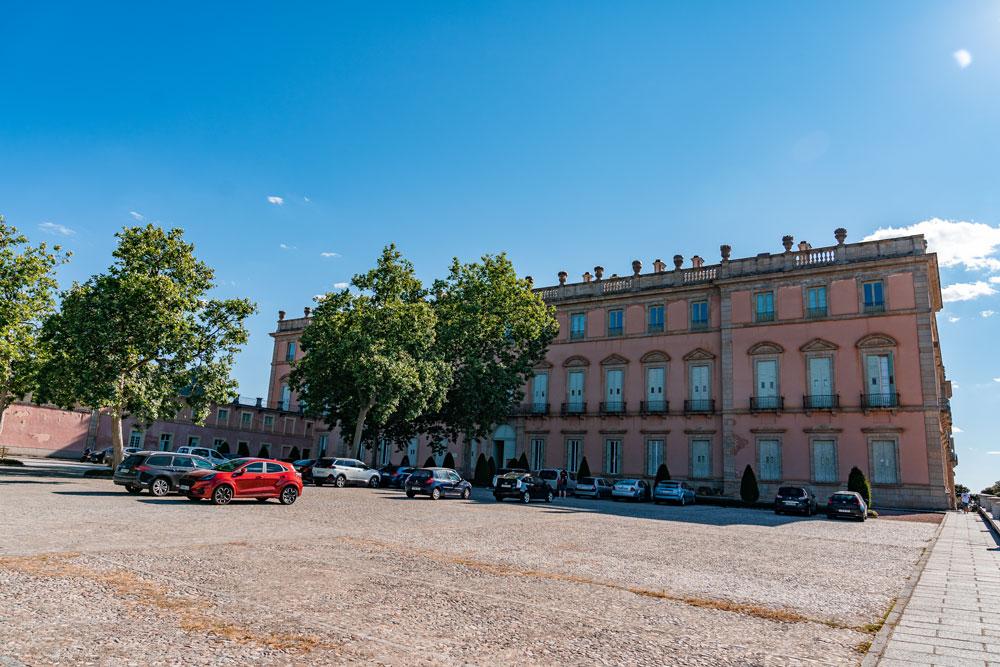 Car park at the Royal Palace of Riofrio
