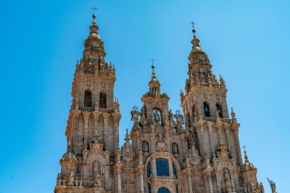 Towers of the Santiago de Compostela Cathedral