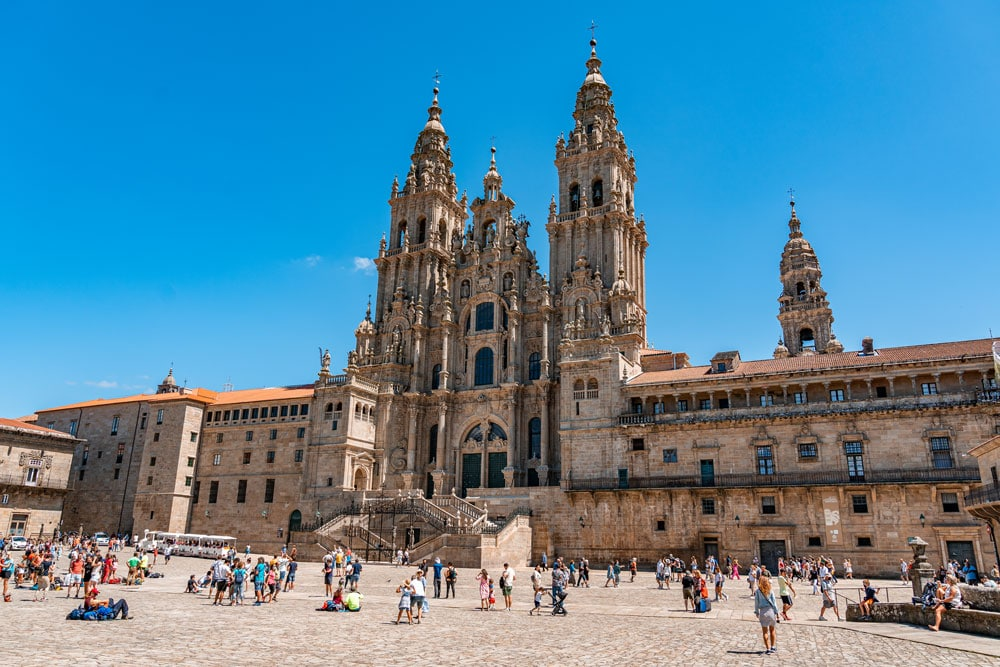 Cathedral of Santiago de Compostela and Town Square