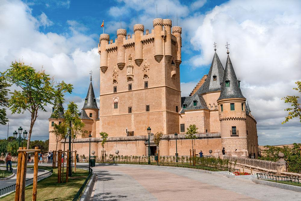 Medieval castle Alcazar of Segovia