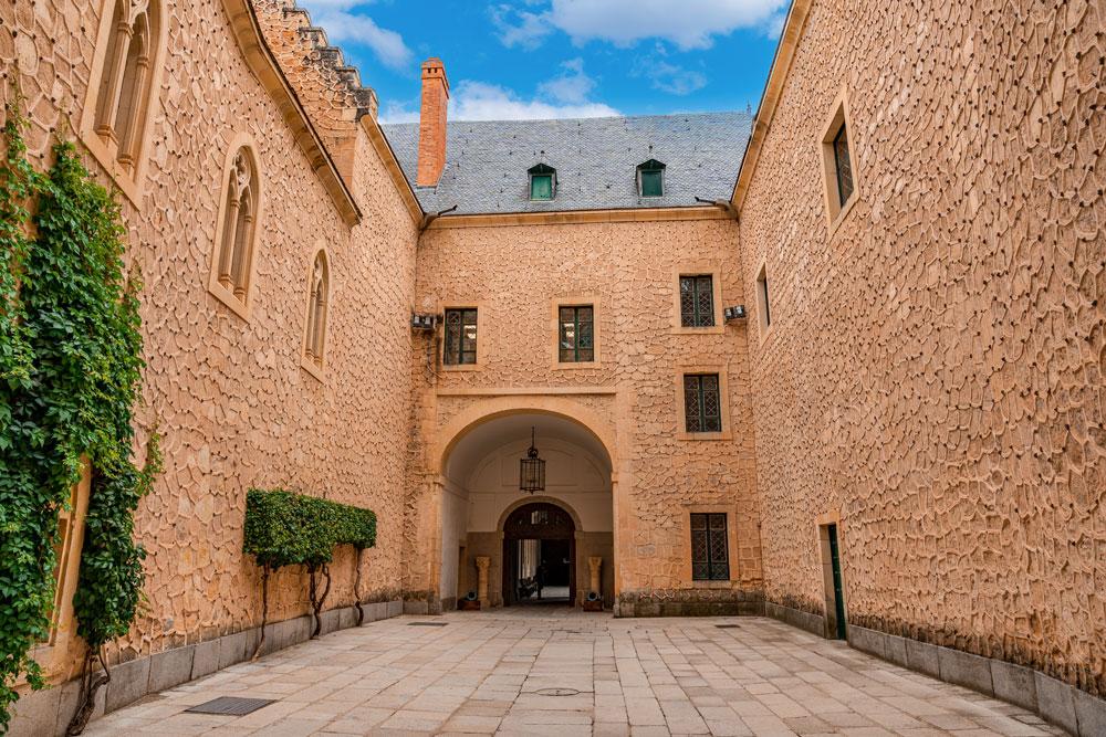 Segovia castle courtyard