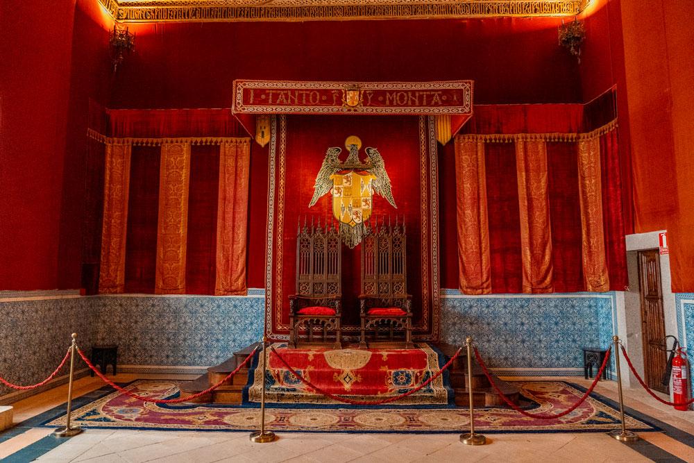 Throne Room at the Alcazar of Segovia