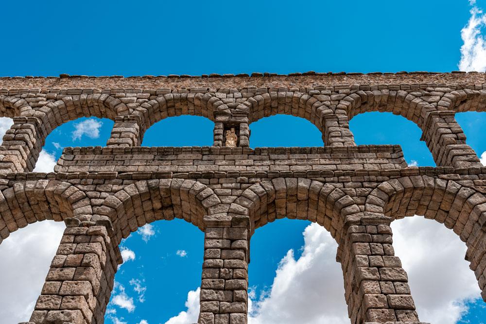 Aqueduct arches close-up