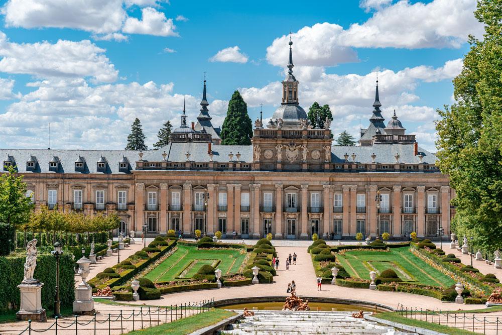 View to Royal Palace of La Granja of San Ildefonso