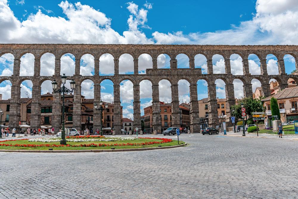 View to the Segovia Aqueduct