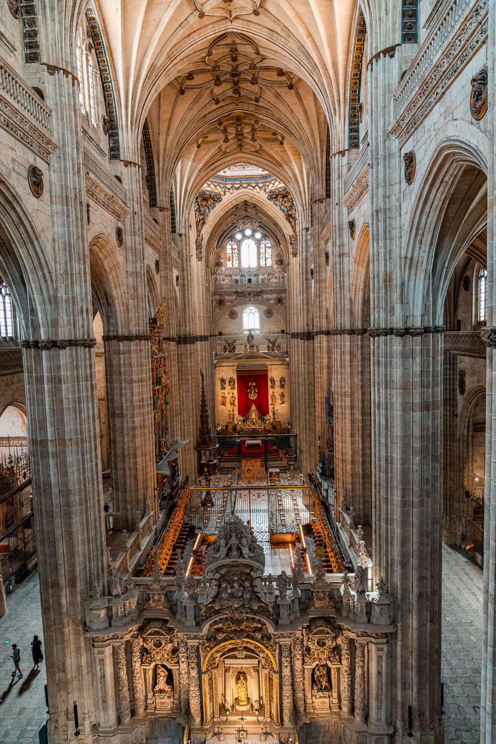 View from Ieronimus tower to Salamanca Cathedral interior