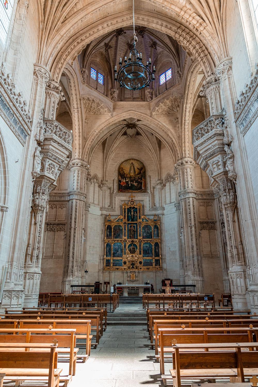View of the altar in the Monastery of San Juan de los Reyes