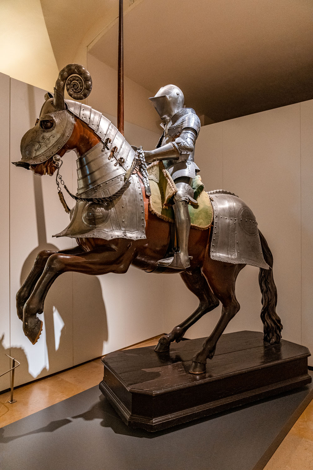 Armored knight and horse at the Alcazar of Toledo
