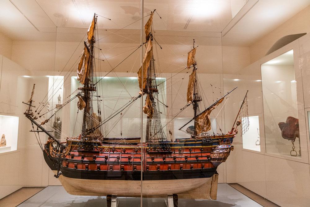 Ship model at Toledo military museum