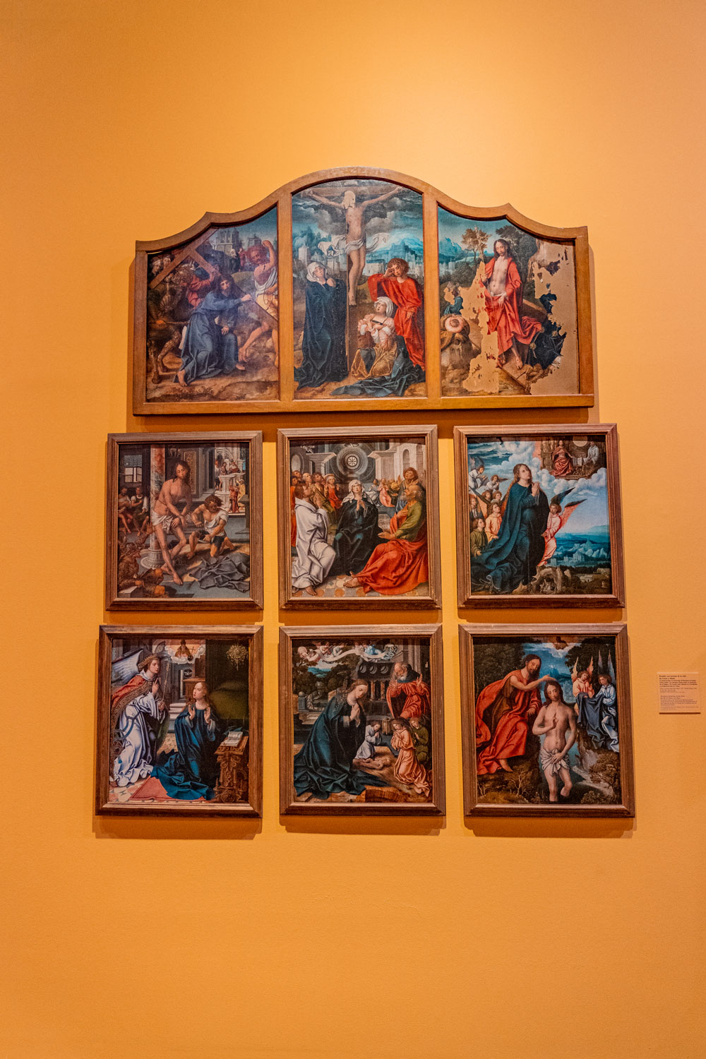Painting on the wall at Museum of Santa Cruz in Toledo